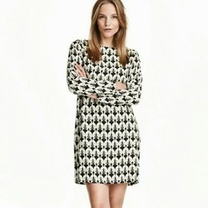 🆕 H&M - Black &White Dog Greyhound Dress
